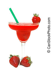 Frozen Strawberry Margarita - Frozen strawberry margarita...