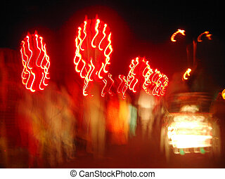 Indian Wedding Light - An Indian wedding procession called...