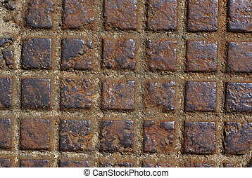 Rusty metal checker - Background - rusty metal checker