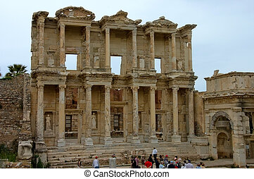 Ephesus Library - The Library erected in 110 AD, Ephesus,...