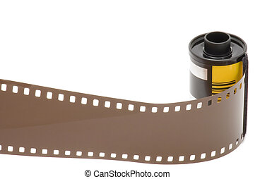 photographic film - series object on white - photographic...
