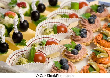 Party time - Delicious snacks made up for a party