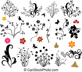 Ornamental design elements - illustration