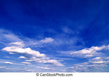 The sky. - The white clouds on background sky.