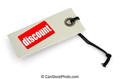 Sale tag #6 - close-up of a Sale tag against white, a small...