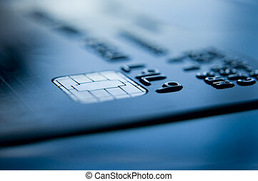 credit card banking - credit card close up and chip and pin