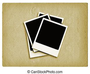 Grunge polaroids - Polaroids on grunge style background