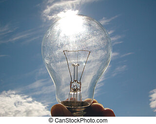 A dazzling ide - A bulb in the sky...