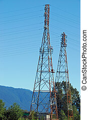 hydro towers in the country