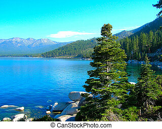 Morning on Lake Tahoe - Early morning on Lake Tahoe such a...