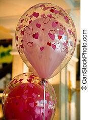 ar, balões, casório, Decorações