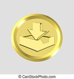 gold inbox icon