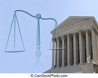 justice symbol - supreme court of justice and balance symbol