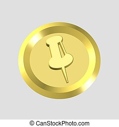 gold marker icon