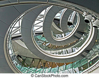 Stairway circular - Circular stairway made from metal and...