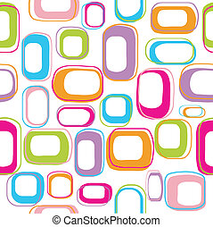 Seamless retro background - Seamless retro squares...