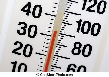 Temperature - Photo of a Thermometer / Temperature Gauge