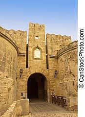 medieval, portão