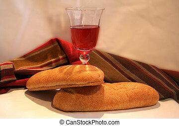 pão, e, vinho