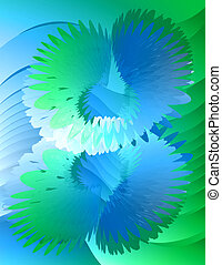 Abstract Background - Blue-Green