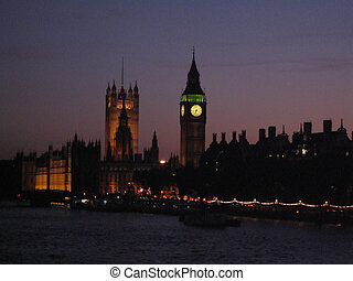 Houses of Parliament - Dusk in London