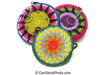 hand made change purse - hand made woven change purses key...
