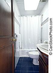 hotel bathroom in dominican republic - bathroom in native...