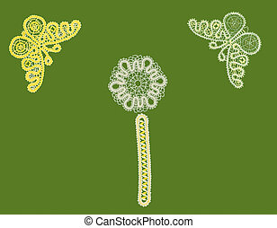 pattern, butterfly, bookmark - the embroidery hook from...