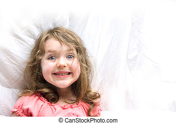 Cheesy Grin - a little girl with a great big cheesy grin
