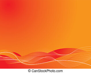 lava flow - Abstract illustrated background showing a hot...