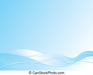ocean wave - Abstract illustrated background with a ocean...