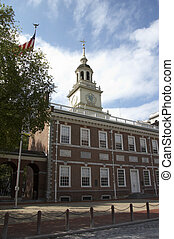independence hall, philadelphia - portrait format -...