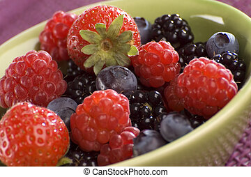 berry - Blueberry, strawberry, raspberry and blackberry in a...