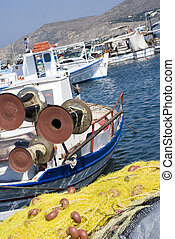 fishing boats greek islands - fishing boats in the greek...