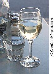 玻璃, 桌子, 餐館