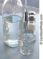 玻璃, 瓶子, 桌子
