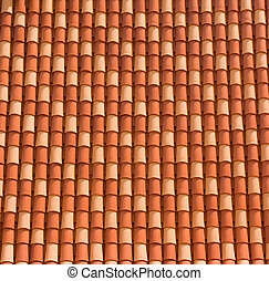 Roof in Old Town, Dubrovnik - Typical red roof in Dubrovnik...