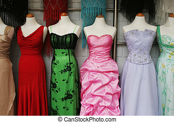 Evening gowns - Mannequins wearing beautiful evening dresses...