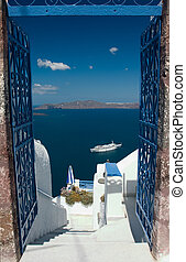 Welcome in Santorini - Open gates invites you to explore...