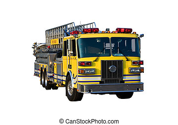Ladder Truck Front Isolated - This is a picture of the front...