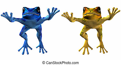 Poison Dart Frog - 3D Render