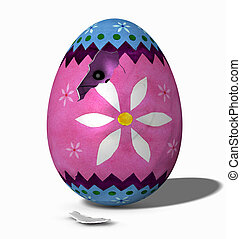 Hatching Bunny - 00 - This Easter Egg has broken and a...