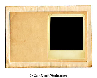 Old Papers (+clipping path, XXL) - Old Paper And Photo Frame...