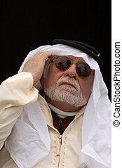old arabian man thinking