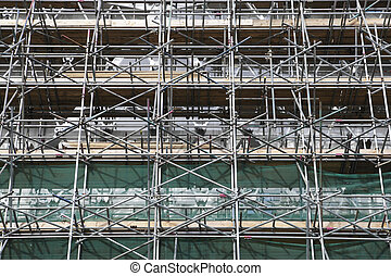 scaffolding along baker street london england uk taken in...