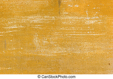 Yellow grunge background - Old yellow cracked abstract...