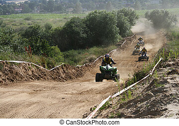 Quad race series - Professional quad bikers during the race