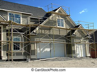 House Construction - A new house nears completion.
