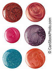 Nail polish - Splited nail polishing circle shapes isolated...