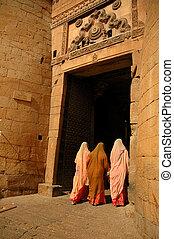 Jaisalmer gate - India. Rajasthan. Jaisalmer